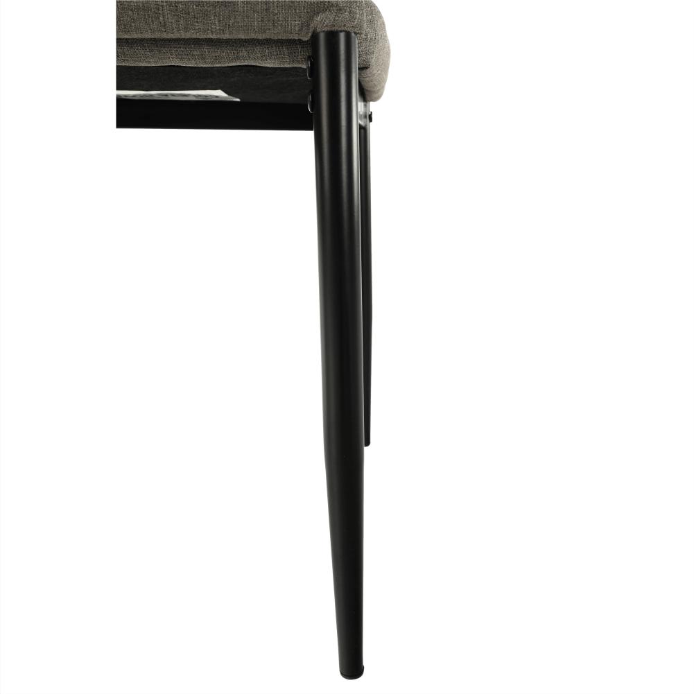Stolička, hnedá látka/čierny kov, COLETA NOVA