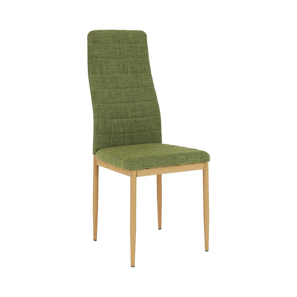 Stolička, zelená látka/buk, COLETA NOVA