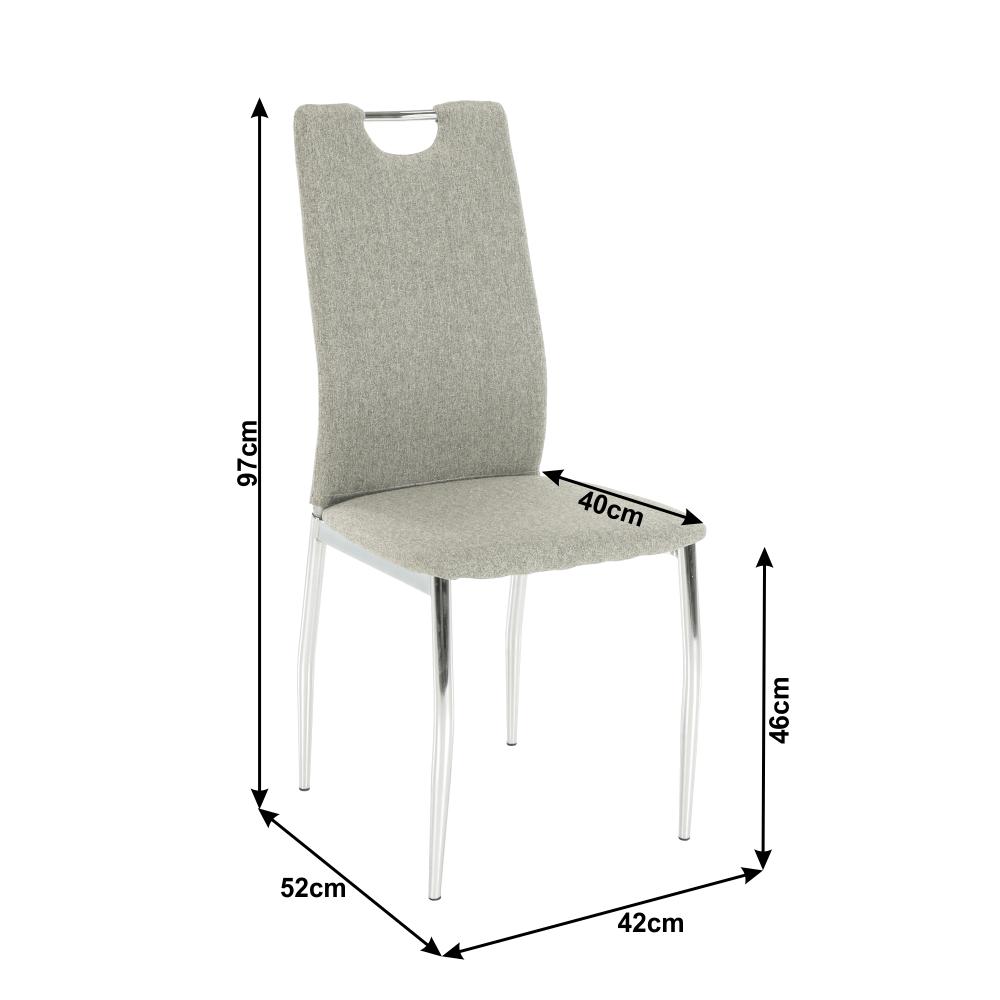 Étkező szék, króm + textilbőr - sárga curry,  OLIVA
