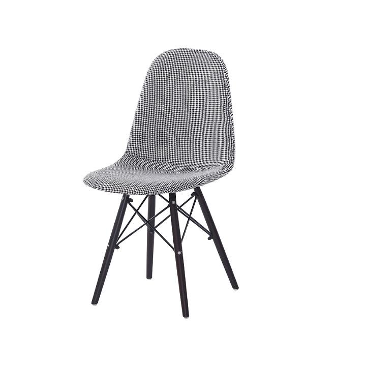 Jedálenská stolička, čierna/biela, AMPERA