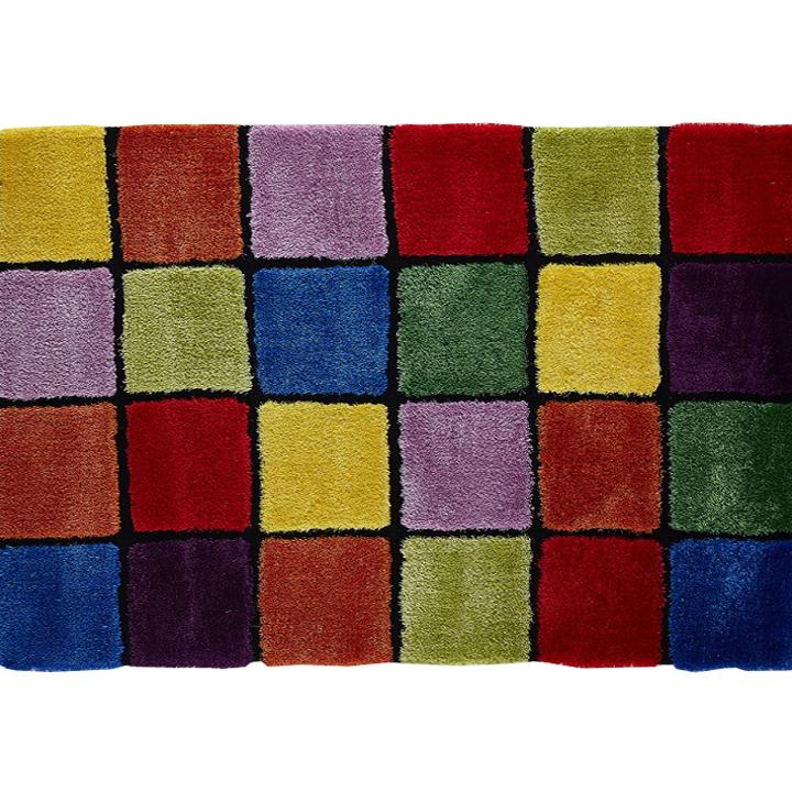 Koberec, červená/zelená/žltá/fialová, 140x200, LUDVIG TYP 4