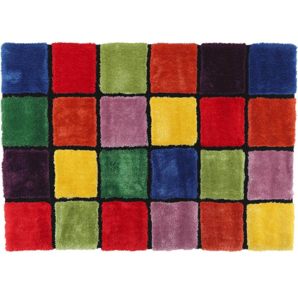 Szőnyeg, piros/zöld/sárga/lila, 140x200, LUDVIG TYP 4