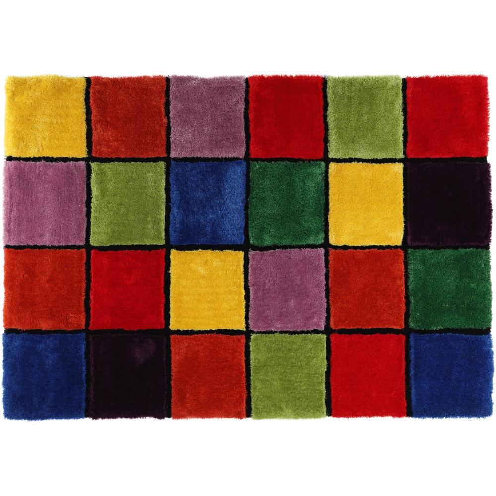 Szőnyeg, piros/zöld/sárga/lila, 170x240, LUDVIG TYP 4