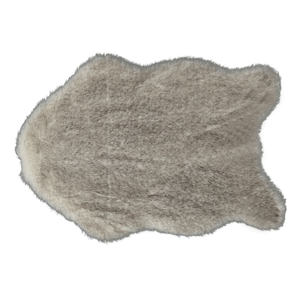Blană artificială, crem-maro, 60x90, MALONE