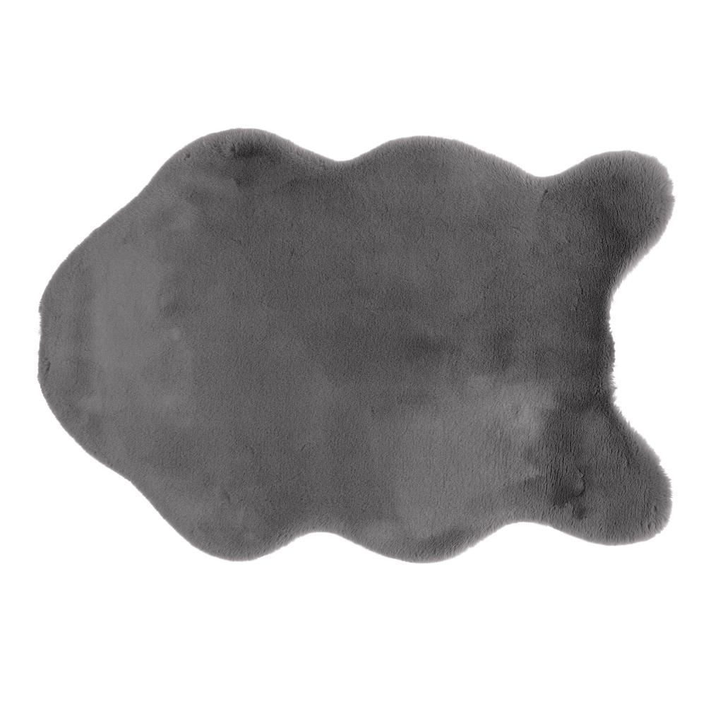 Umelá kožušina, sivá, 60x90, RABIT TYP 3
