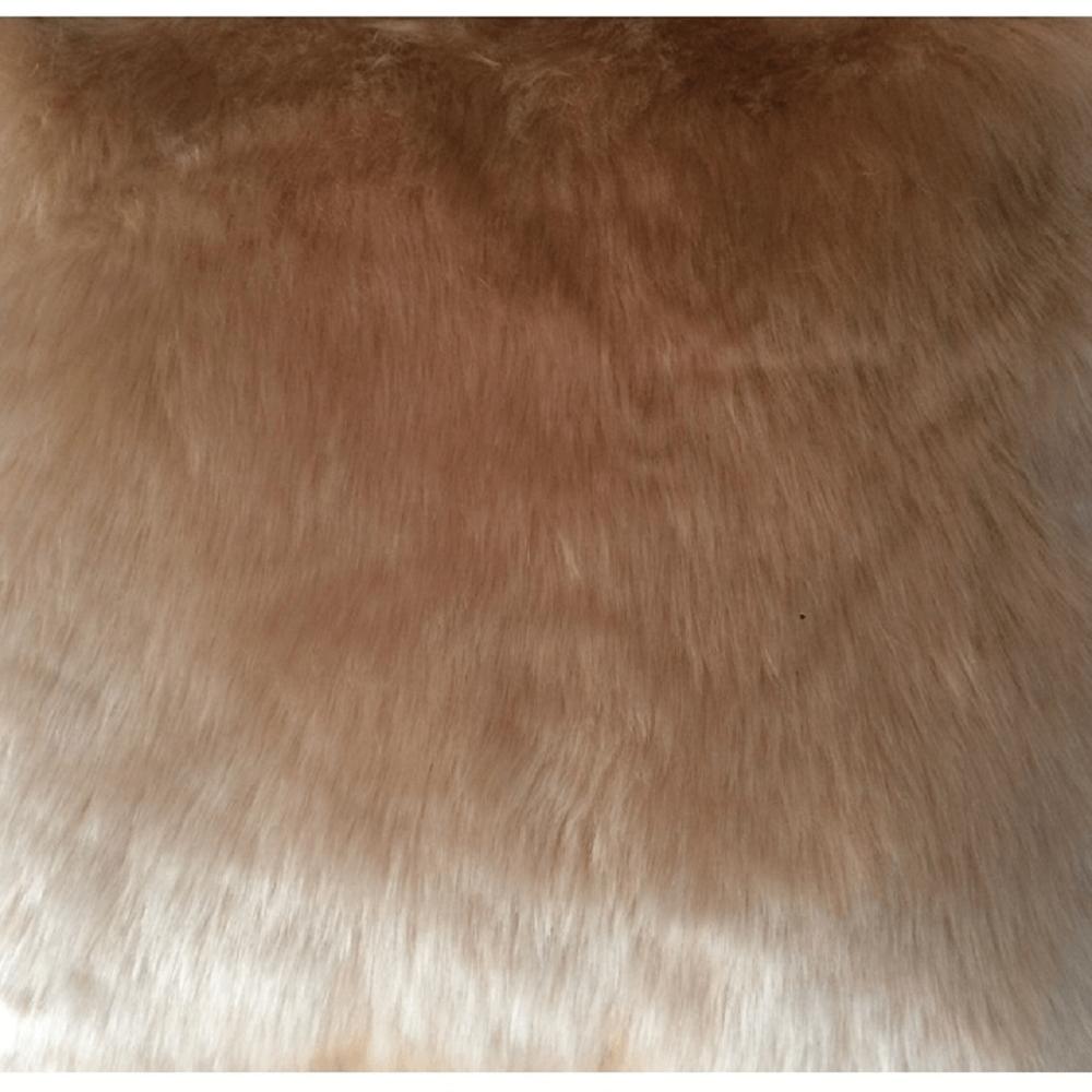 Pernă, imitație de piele de oaie, bej, 45x45, ROSALINE