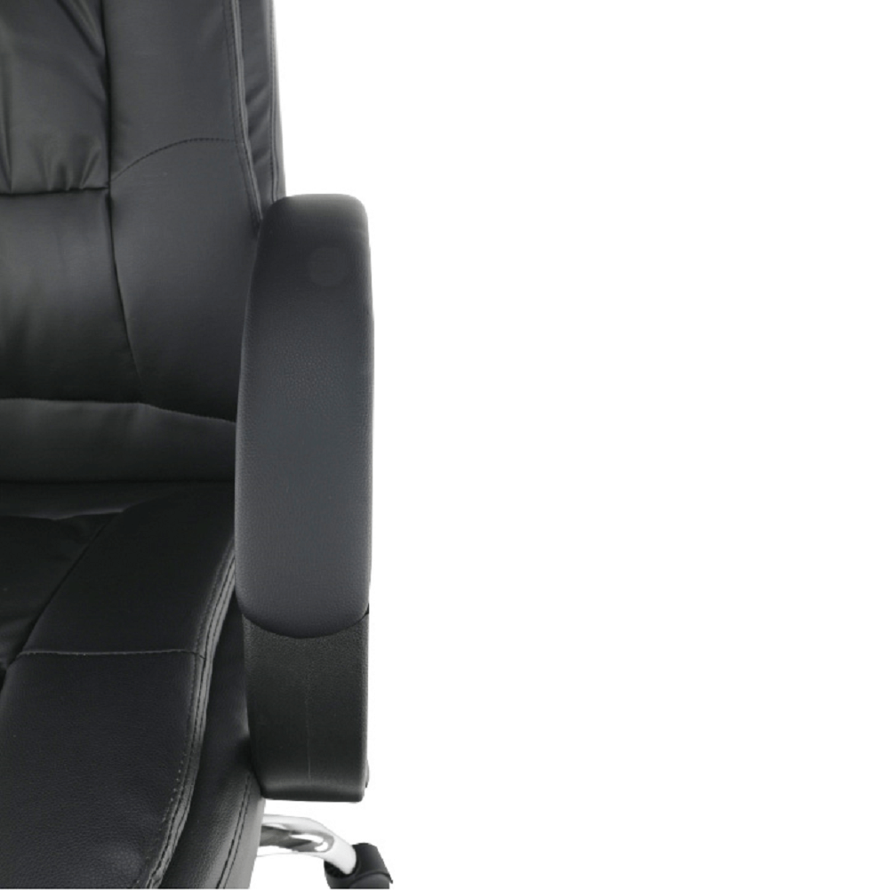Irodai szék, fekete textilbőr, MADOX