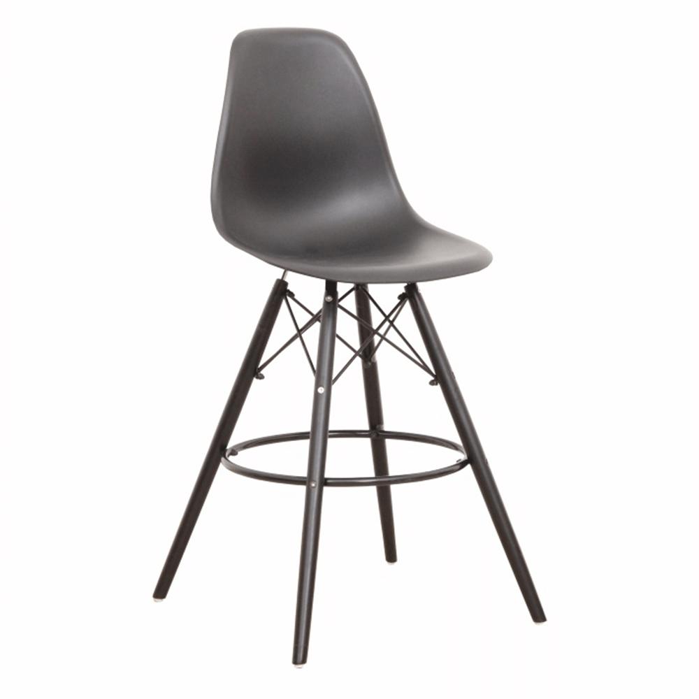 Barová stolička, čierna, CARBRY