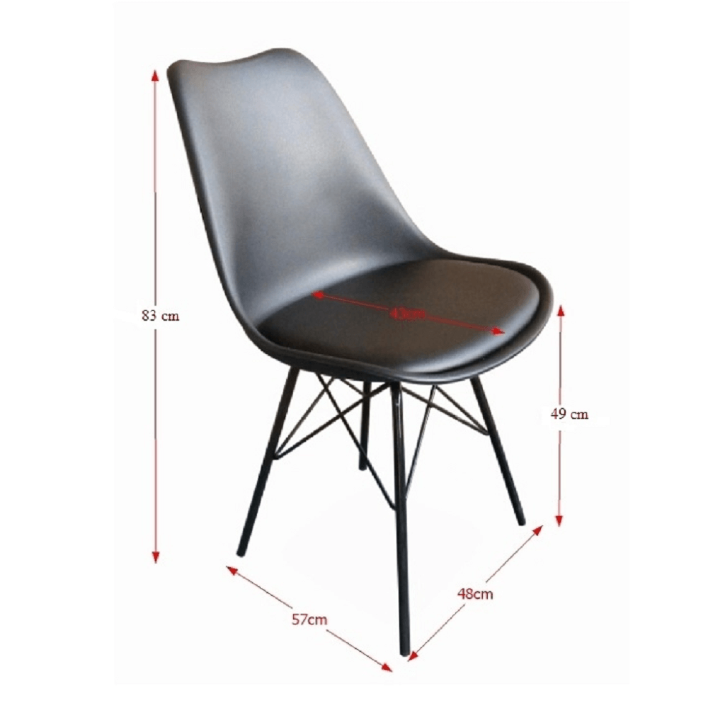 Modern szék, fekete, TAMORA