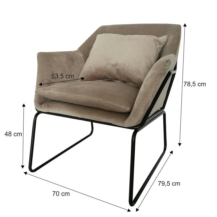Dizájn fotel, szürke/fekete, KADAR