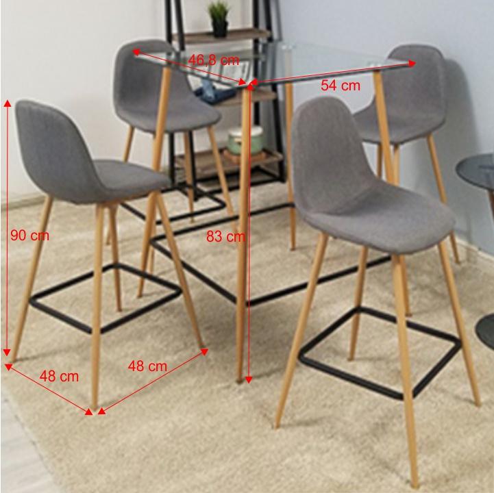 TEMPO KONDELA Jedálenský set stôl/štyri stoličky, DAMAN - Tempo nábytek