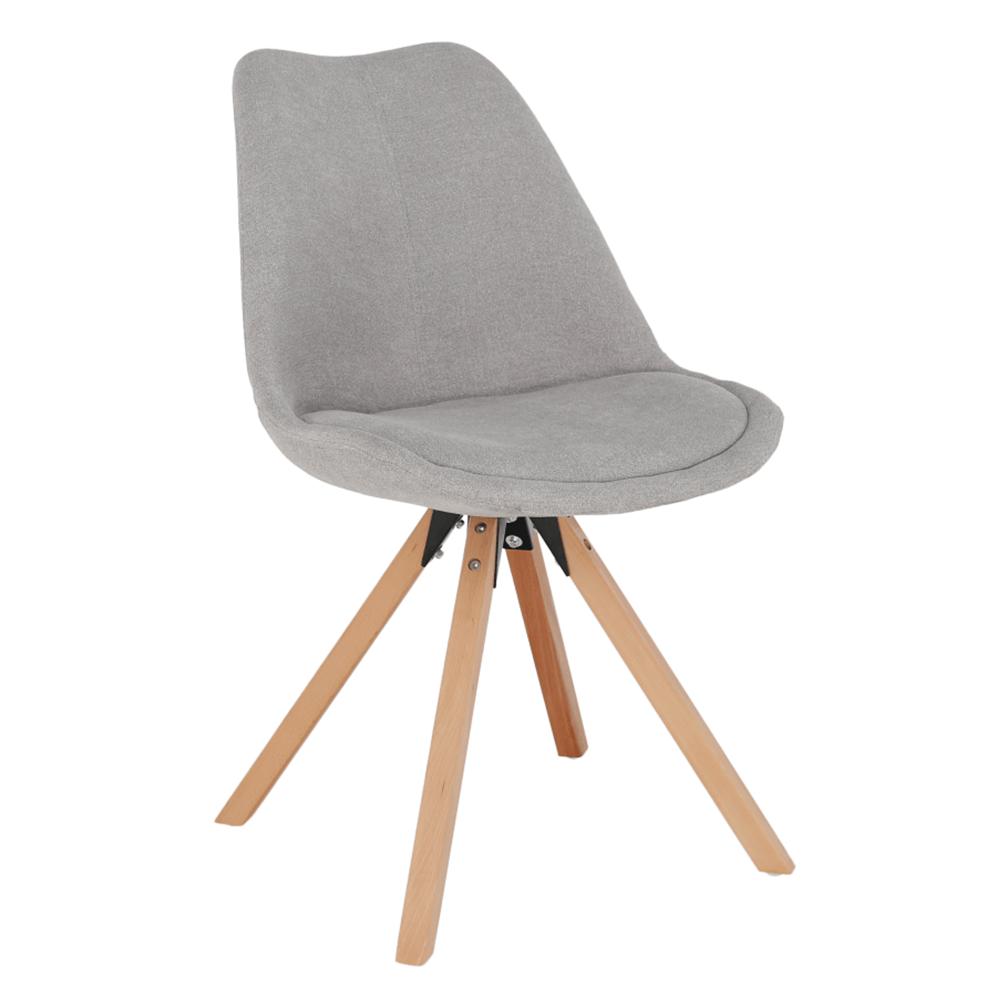 SABRA - Židle, šedá/buk, TEMPO KONDELA