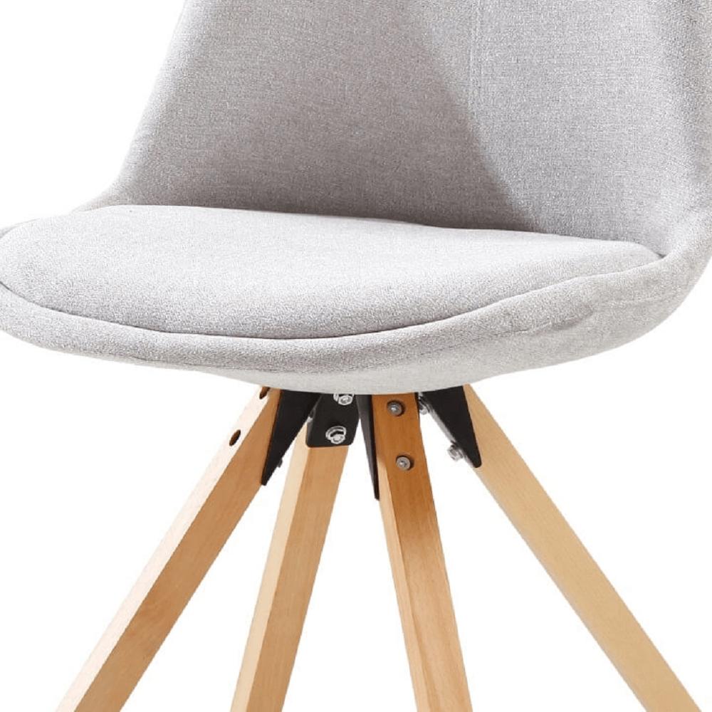 Stolička, sivá/buk, SABRA