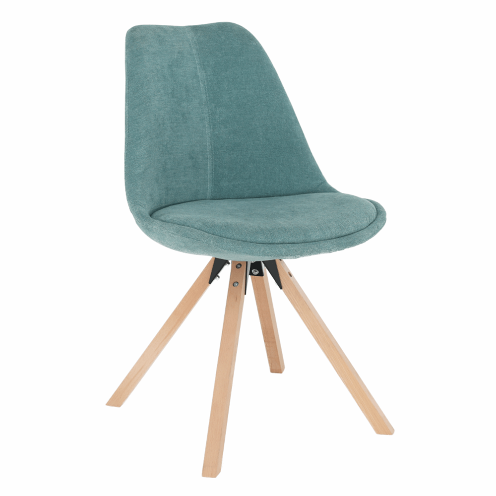 Scaun, material textil verde mentol/lemn fag, SABRA