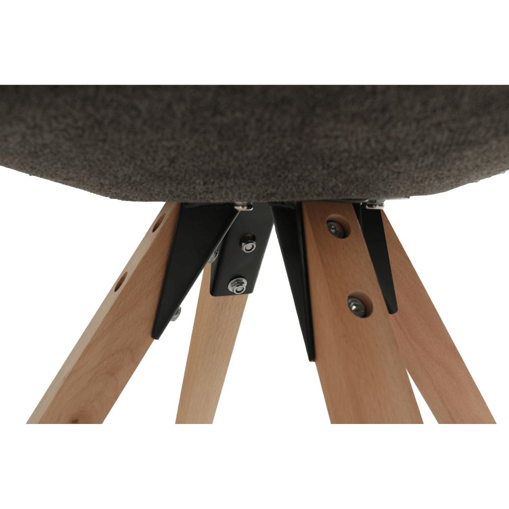 Stolička, sivohnedá/buk, SABRA