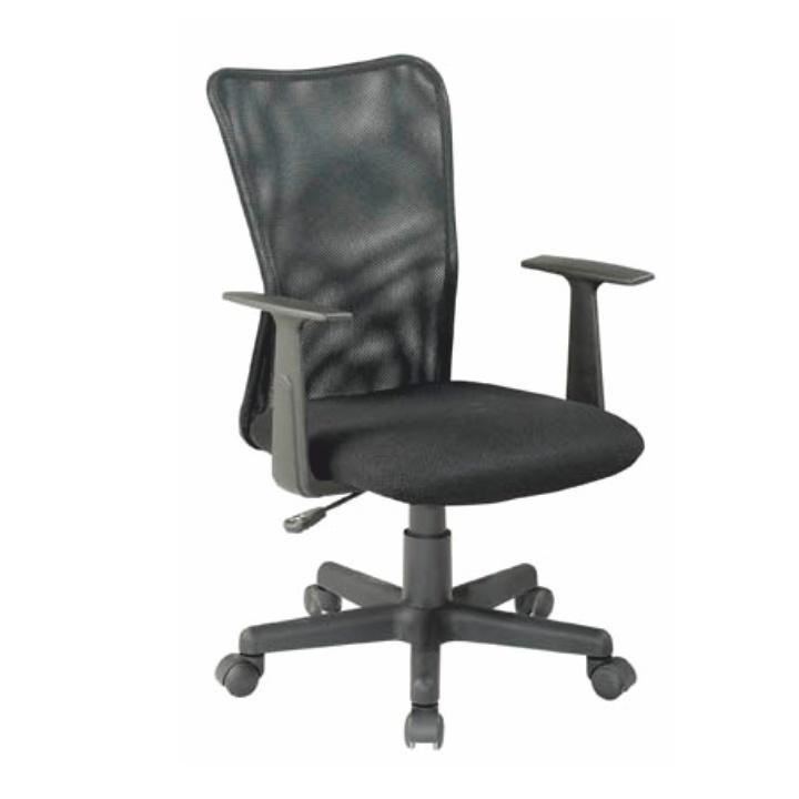 Irodai szék, fekete szövet+ fekete háló, REMO New