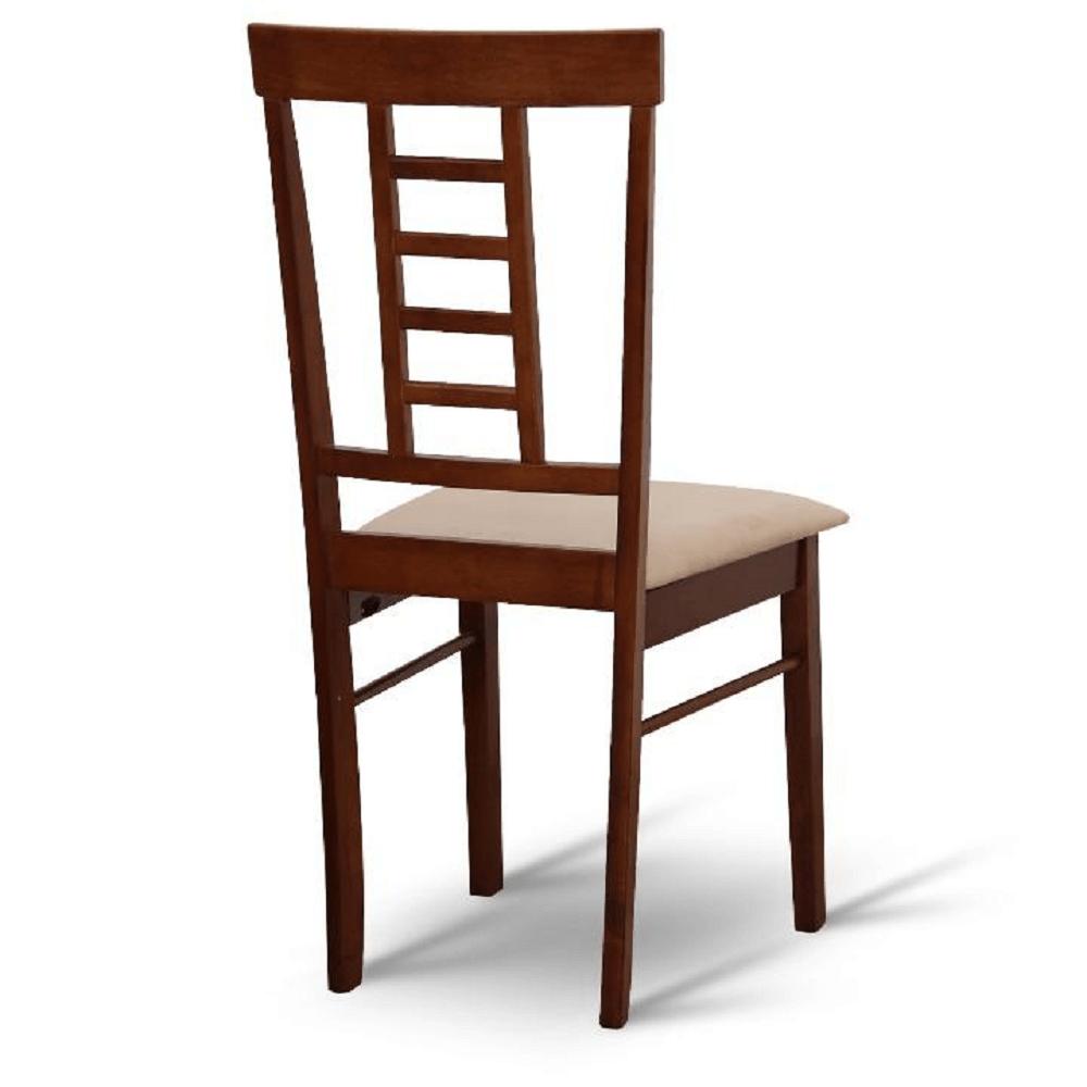 Set dining 1+6, material textil bej/lemn finisaj nuc, OLEG NEW
