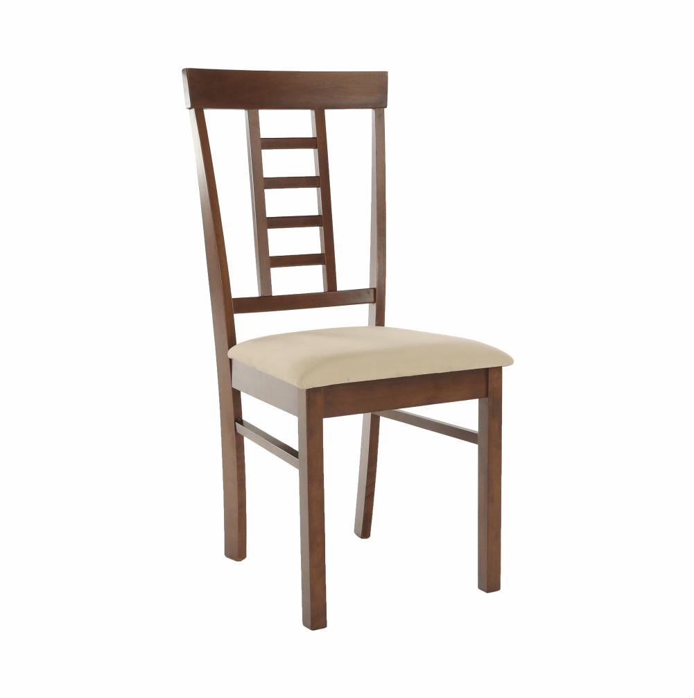 Jídelní židle, ořech / béžová, OLEG NEW, TEMPO KONDELA