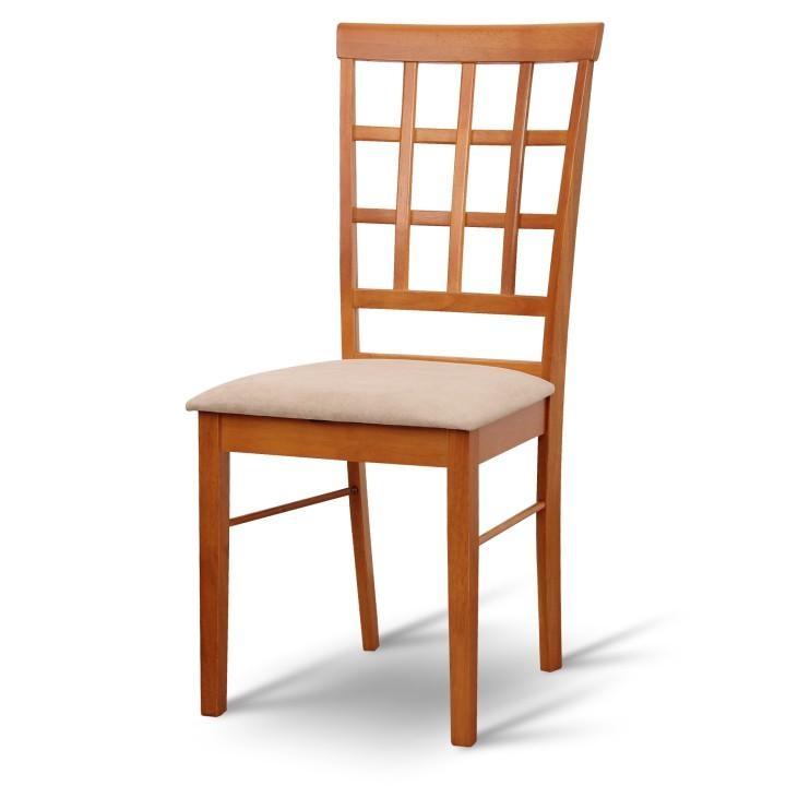 Stolička, čerešňa/látka béžová, GRID NEW