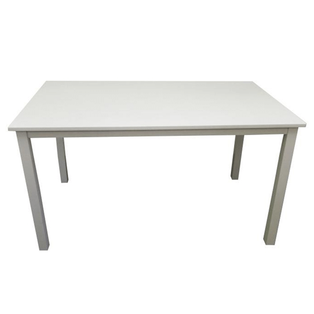 Jedálenský stôl, biela, 135 cm, ASTRO
