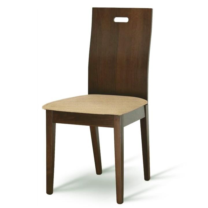 Drevená stolička, buk merlot/látka zlatobéžová, ABRIL