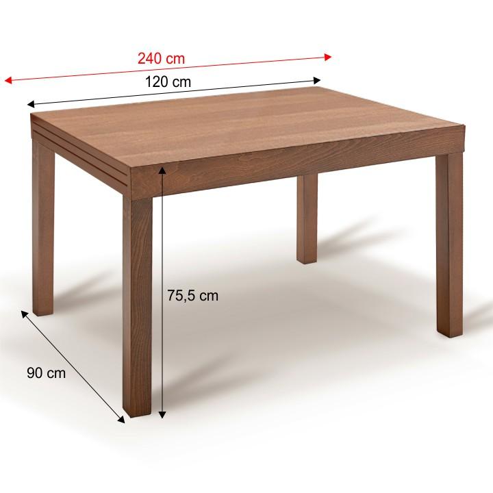 Jedálenský stôl, rozkladací, buk merlot, FARO
