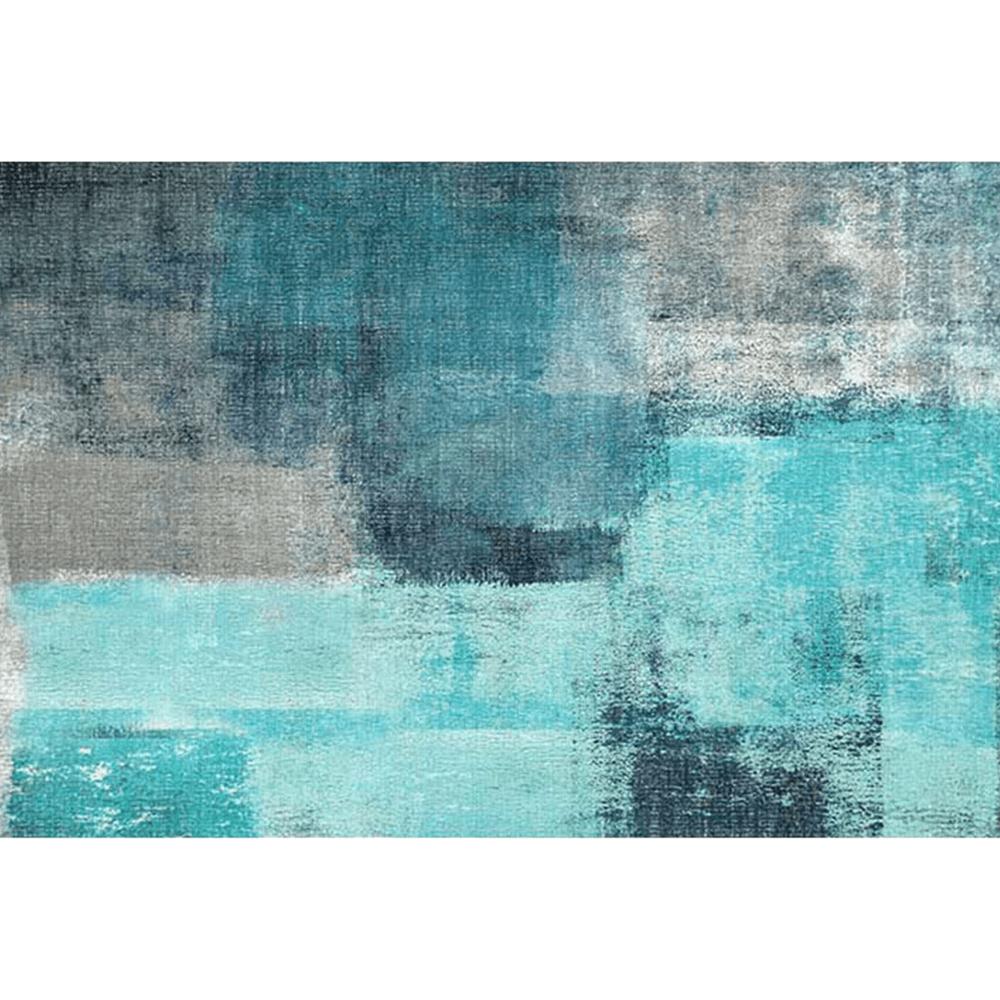 Koberec, modrá/sivá, 80x150, ESMARINA TYP 2