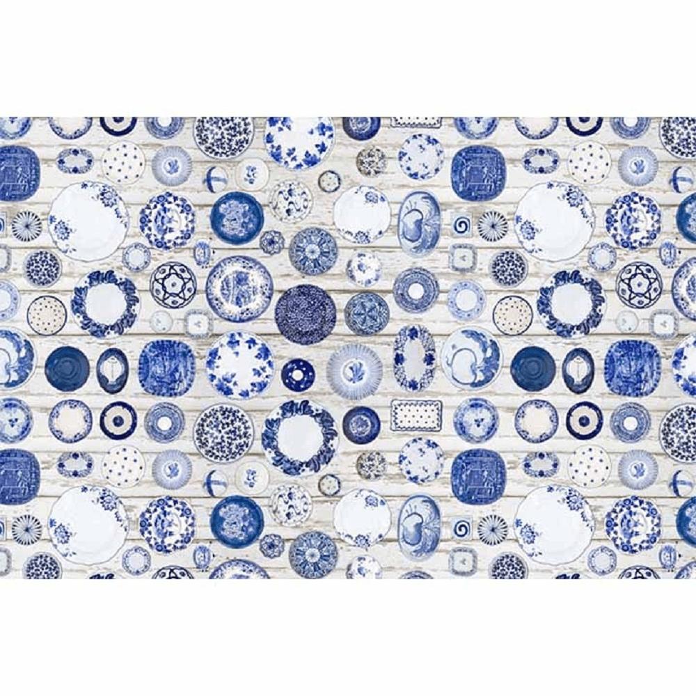Koberec, modrá/krémová, 80x200, PARLIN
