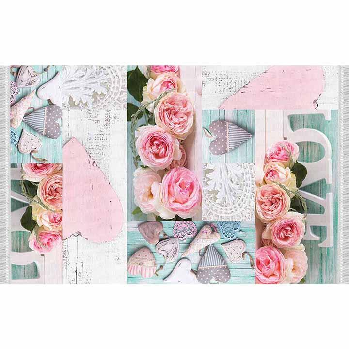 Koberec, vzor ruže, viacfarebný, 80x150, SONIL TYP 2