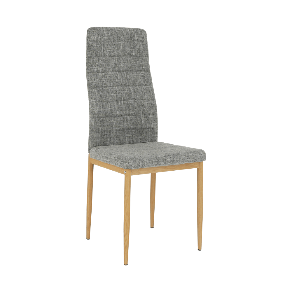 Stolička, svetlosivá látka/buk, COLETA NOVA
