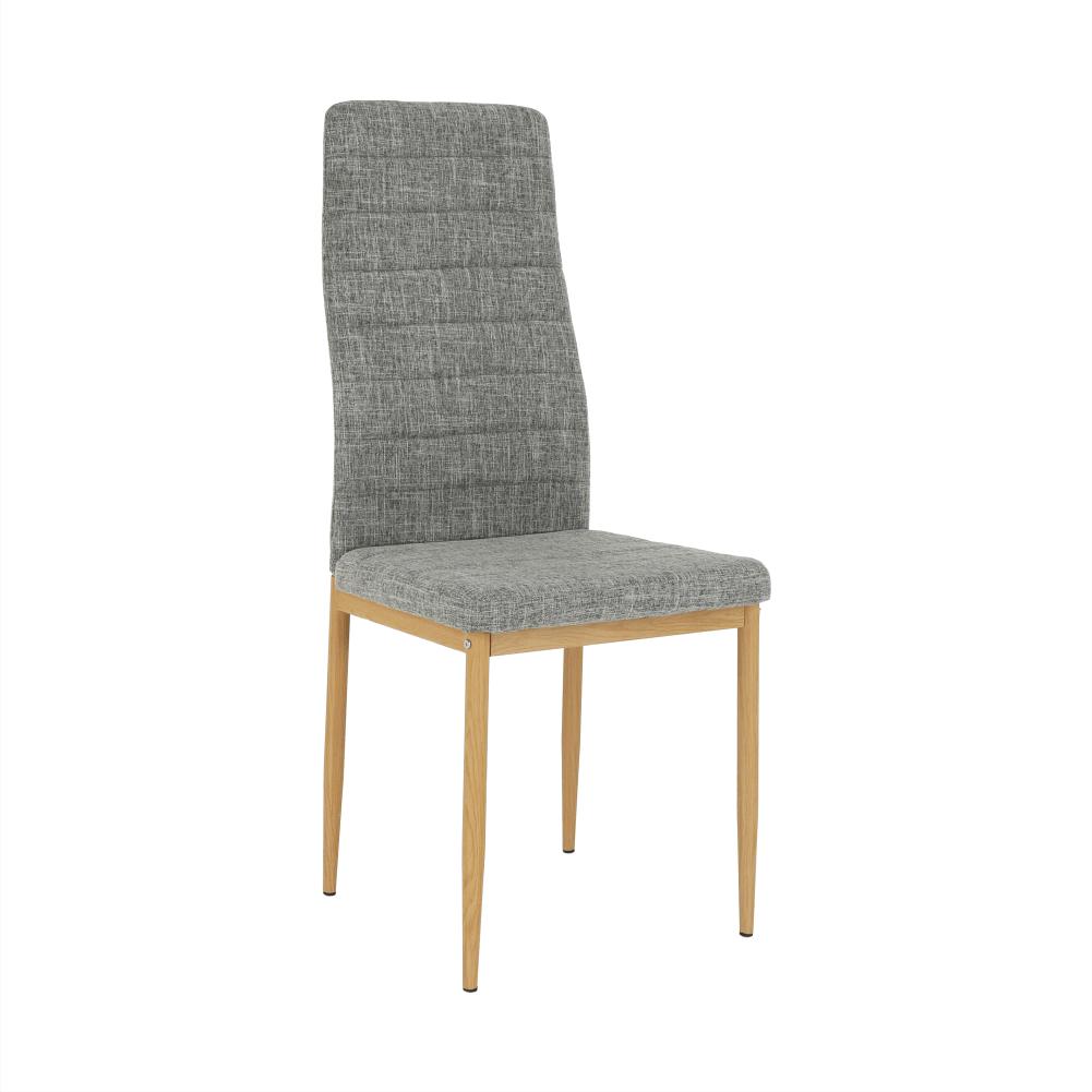 Scaun, material textil gri deschis/cadru metalic fag, COLETA NOVA