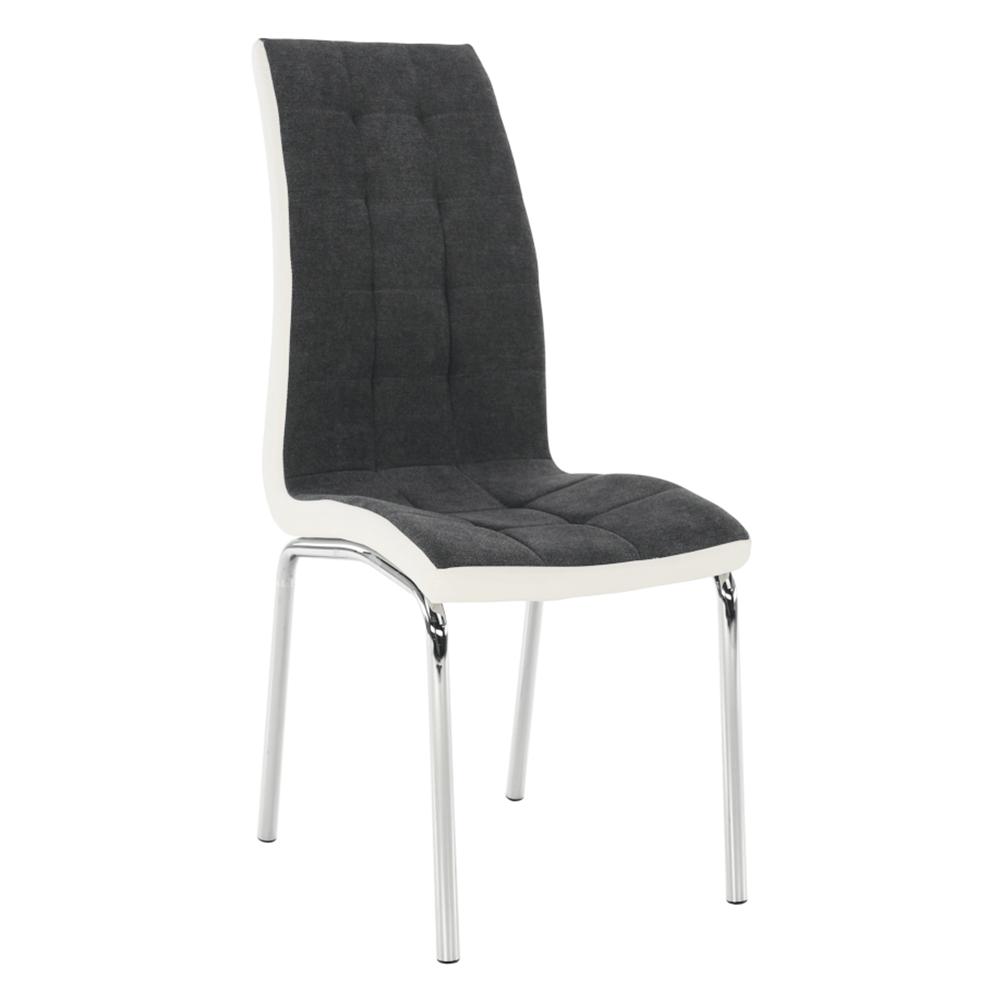 Jídelní židle, tmavě šedá / bílá, GERDA NEW, TEMPO KONDELA