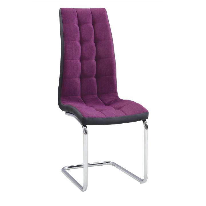 Jedálenská stolička, fialová/čierna/chróm, SALOMA NEW