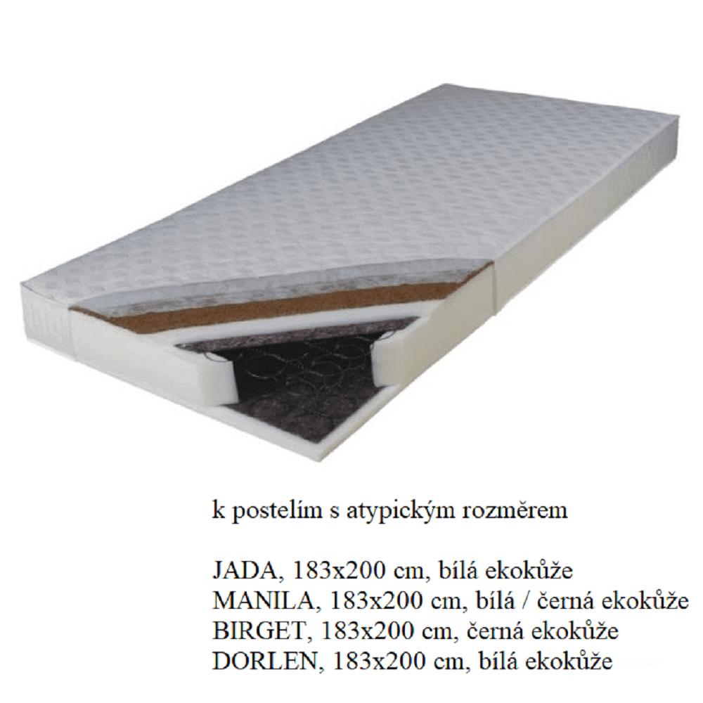 Matrace, pružinová, 183x200, KOKOS MEDIUM atyp