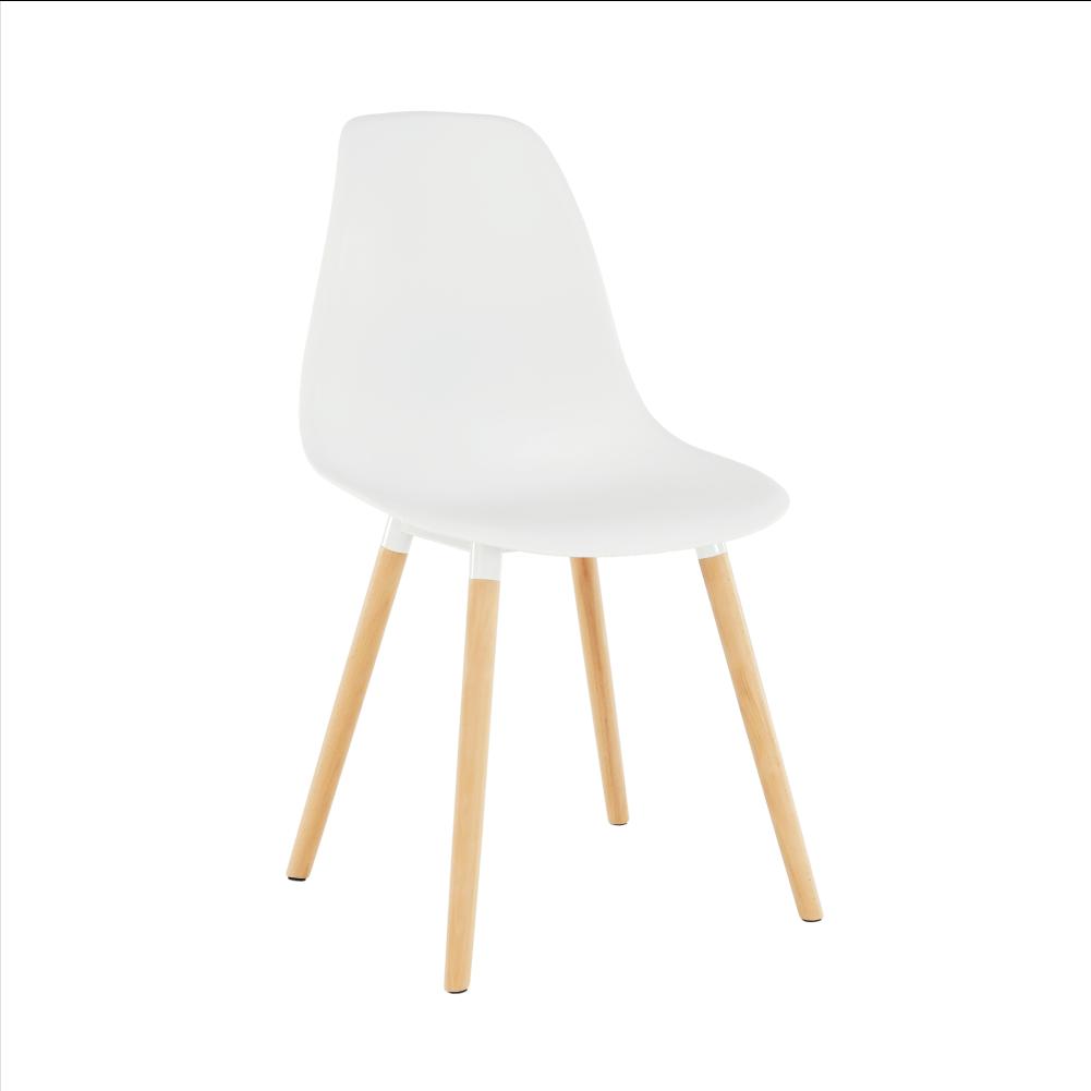 Židle, bílá plast / buk, KALISA