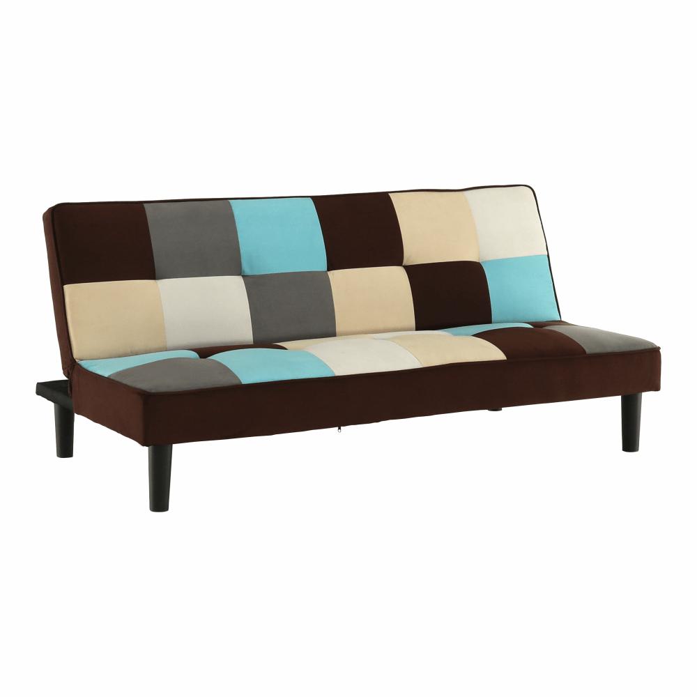 Colţar extensibil, material textil bej/maro/albastru, ARLEKIN