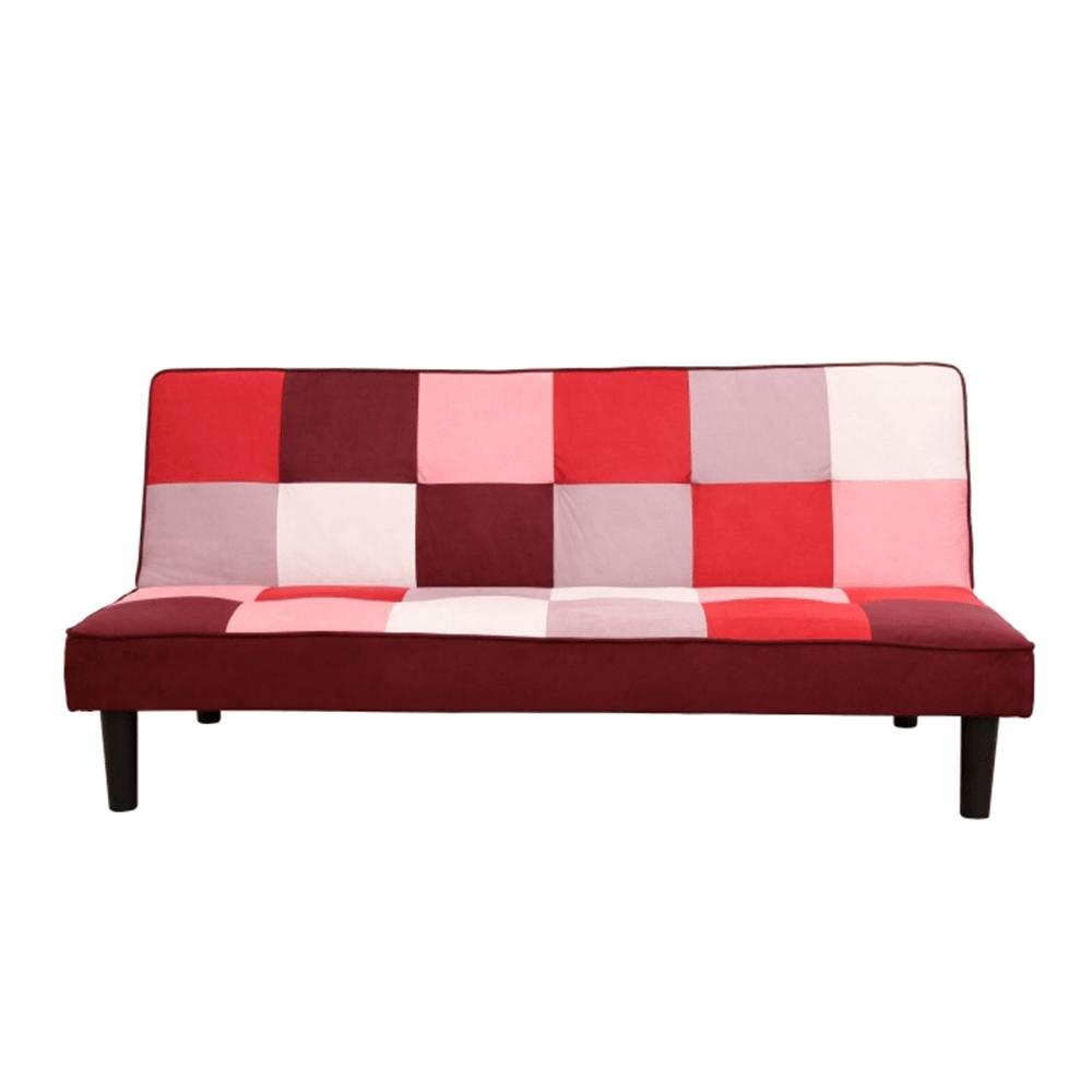 Colţar extensibil, material textil roşu/alb, ARLEKIN