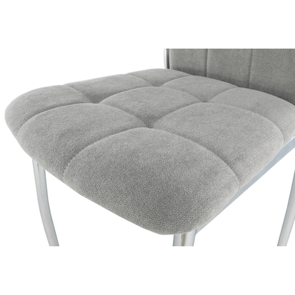 ADORA New szék, szövet szürke/ króm lábakal