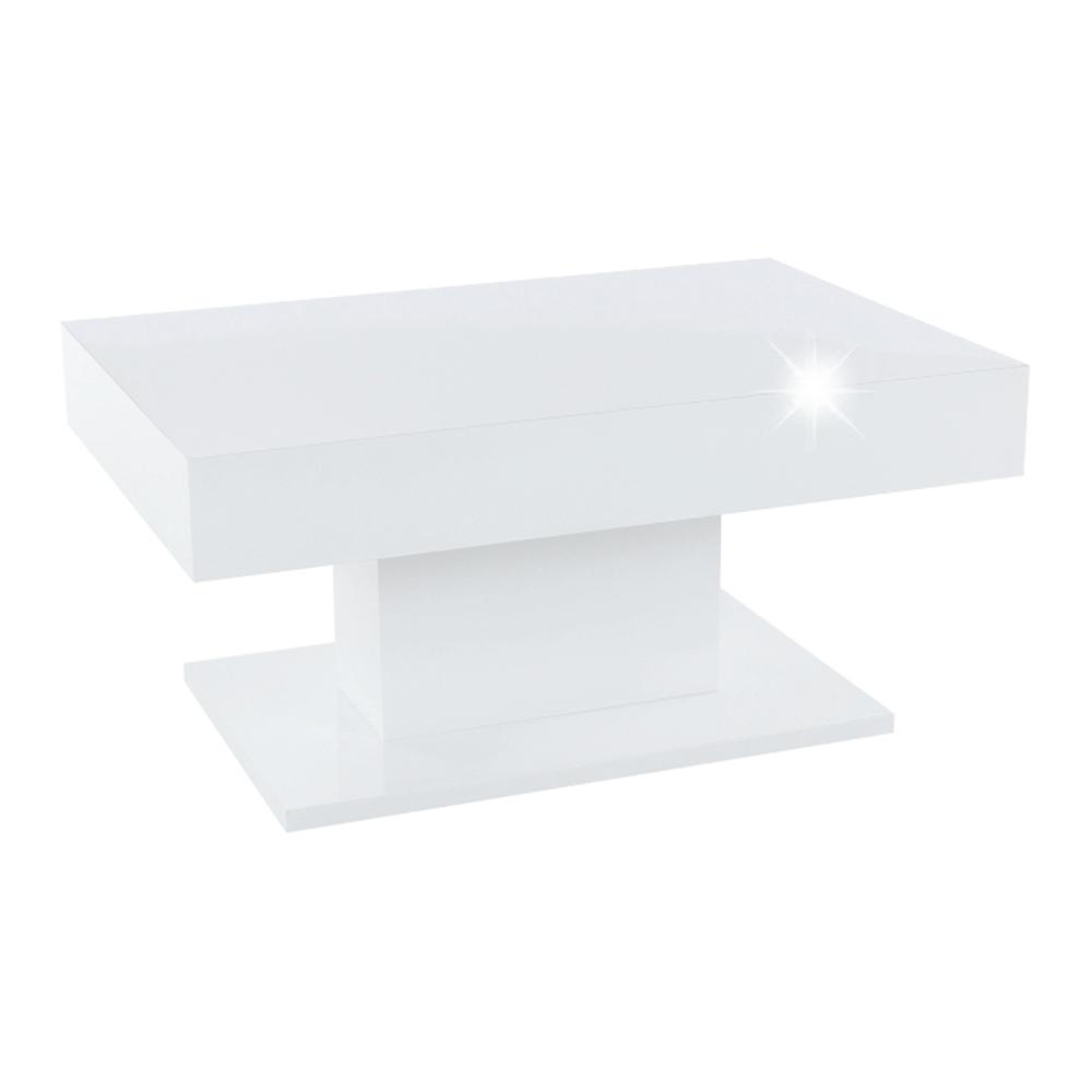 Konferenčný stôl s úložným priestorom, biela vysoký lesk, DIKARO