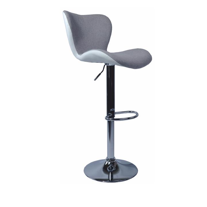 Barová stolička, sivá látka/biela ekokoža, TIRZA