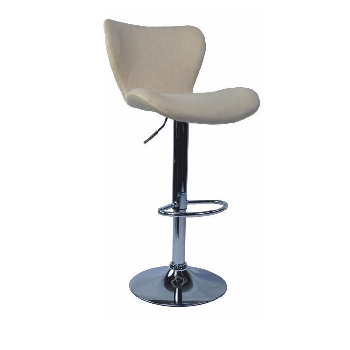 Barová stolička, hnedá látka/kremová ekokoža, TIRZA