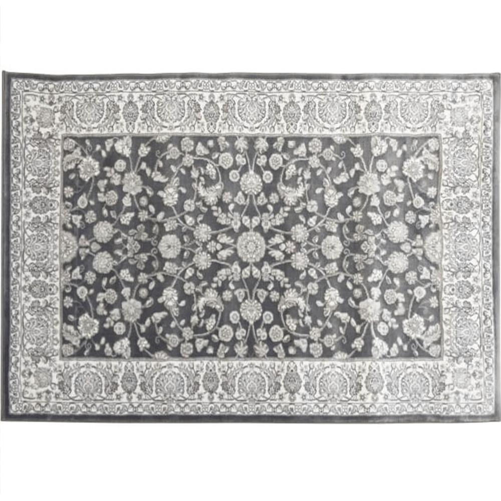 Koberec, tmavě šedá / vzor, 160x235, AZIR