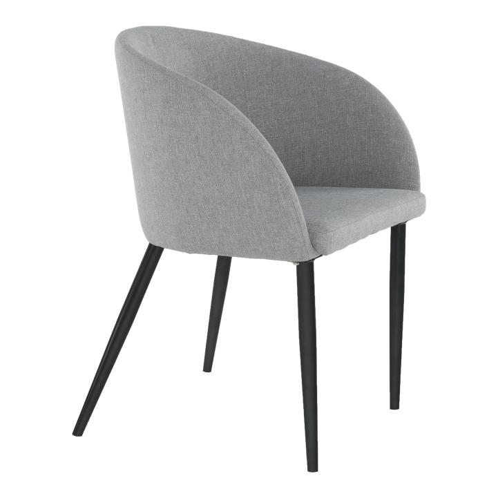 Fotel, anyag szürke/fekete, RAVEN