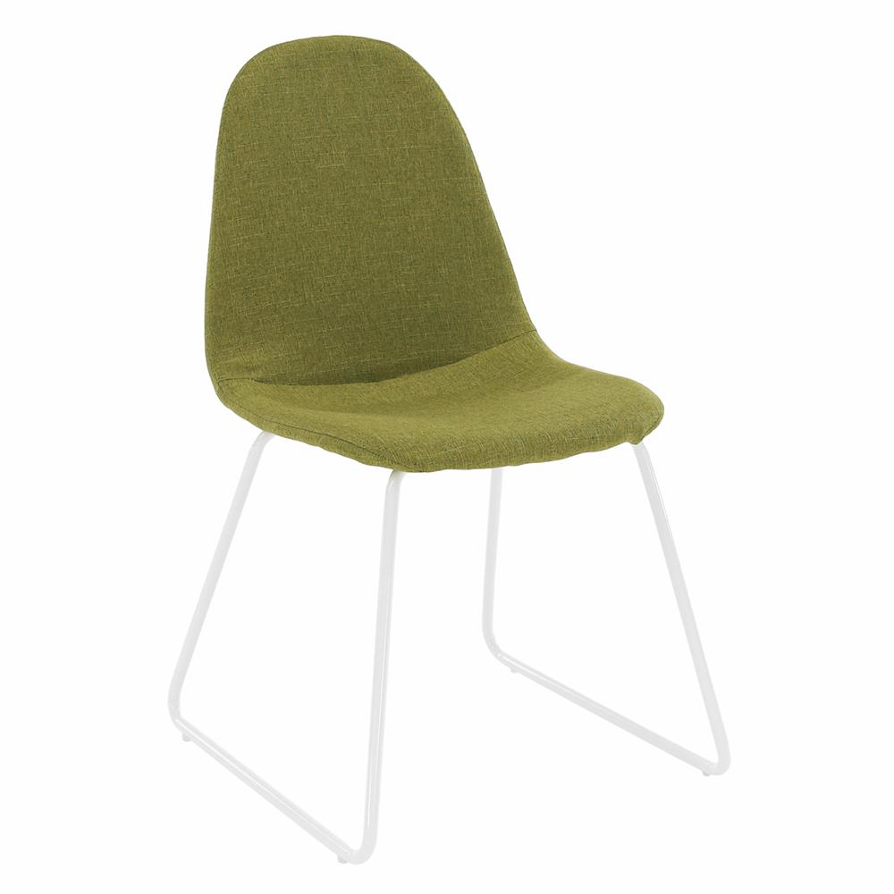 Scaun, material textil verde/metal, ONTARI