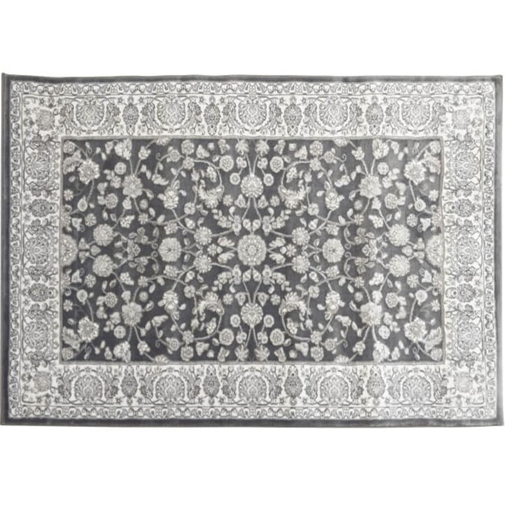 Koberec, tmavosivá/vzor, 67x120, AZIR