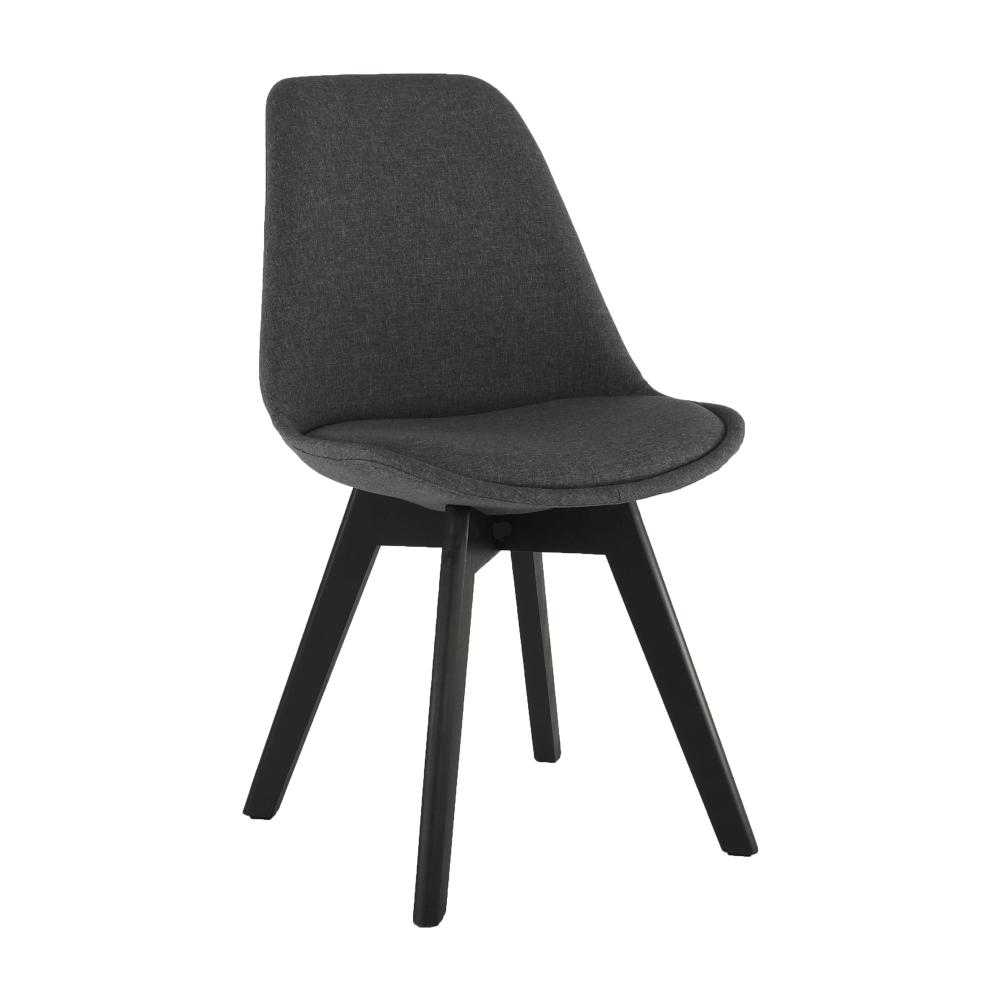 Židle, tmavě šedá / černá, LORITA, TEMPO KONDELA