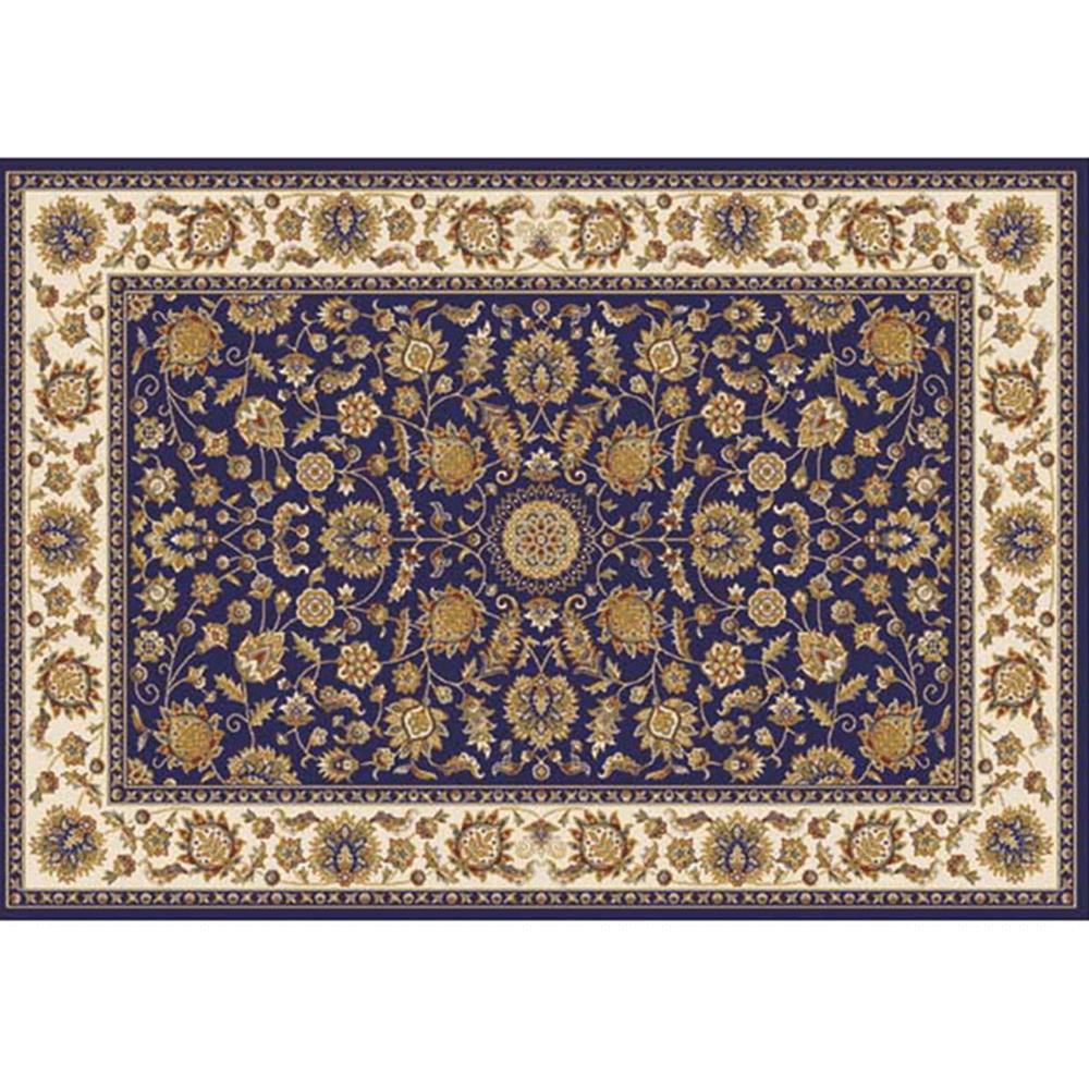 Covor 133x190 cm, albastru închis/amestec de culori/model oriental, KENDRA TYP 1