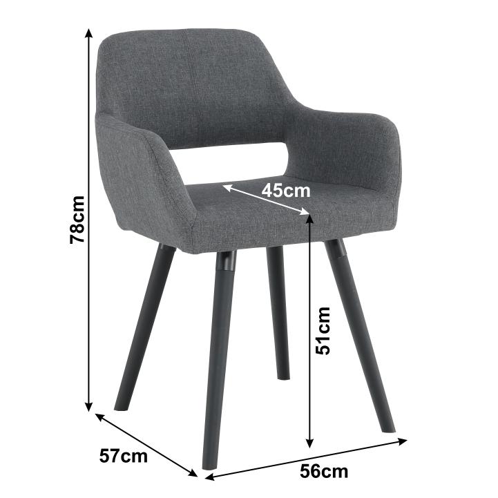 Dizájn fotel, sötétszürke/fekete, GODRIC