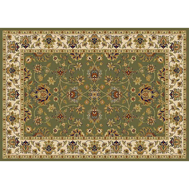 Koberec, zelená/mix farieb/vzor, 133x190, KENDRA TYP 2