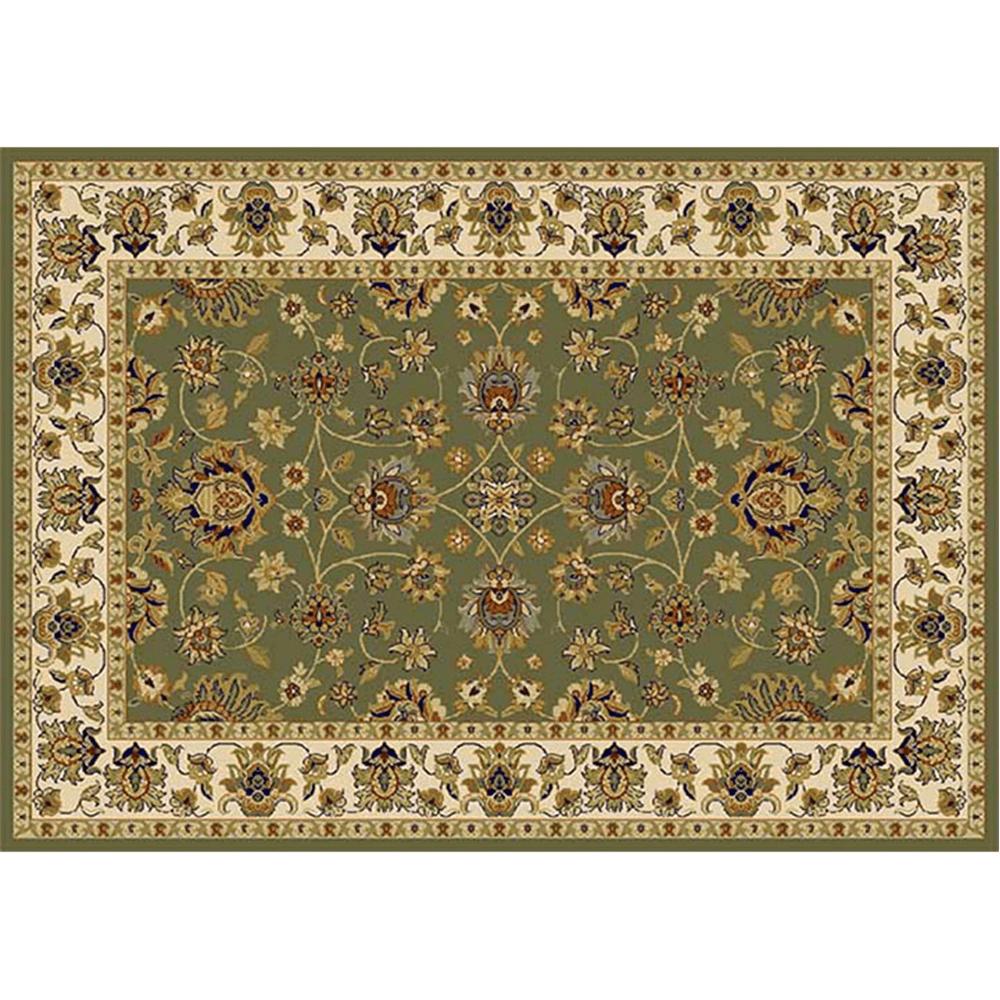 Koberec, zelená/mix farieb/vzor, 100x150, KENDRA TYP 2